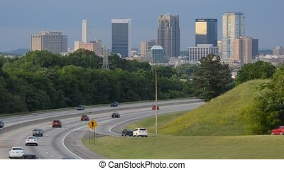 Birmingham Alabama - traffic on I-65 in Birmingham, Alabama,...