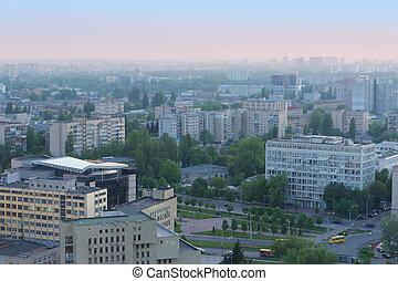 Aerial view on Kyiv, Ukraine
