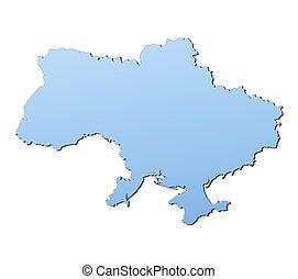 Ucrania, mapa