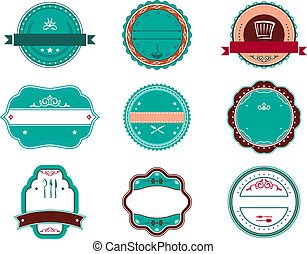 Food and restaurant labels set for design