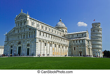 Leaning tower of Pisa, Italy - Pisa, Piazza dei miracoli,...
