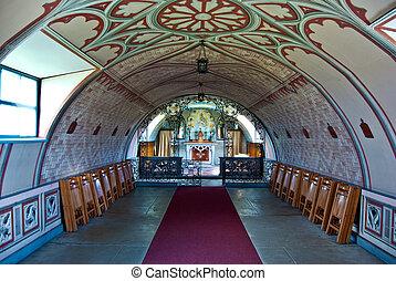 Italian Chapel - detail of the Italian Chapel on Orkney