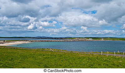 Scenery on Orkney - beautiful landscape on the Mainland of...