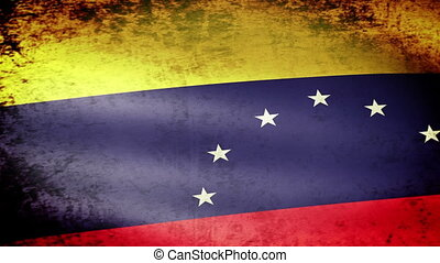 Venezuela Flag Waving, grunge look