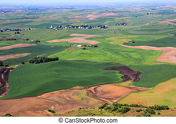 Rolling Hills of Palouse - The beautiful hills of Palouse,...