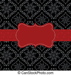 Abstract seamless pattern background with ornate frame -...