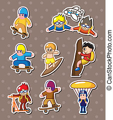 extreme sport stickers