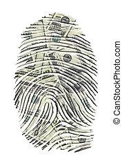 US Dollars FInger Print