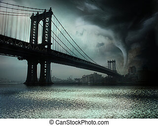 Tornado NYC NY - Tornado NYC Illustration