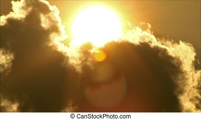 Tropical Sun Behind Cloud4