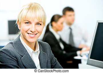 Business leader - Portrait of beautiful businesswoman...