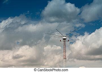 Flight Navigation Beason - a navigation beacon at the...