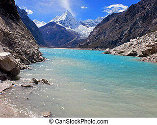 Mountain of Alpamayo in Ancash-Peru
