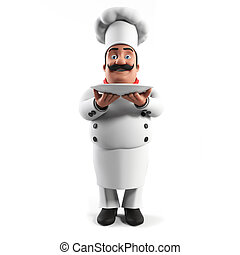 A kitchen chef - 3d rendered illustration of a kitchen chef
