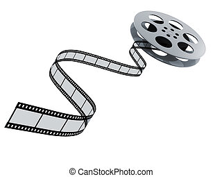 film reel - 3d film reel copy isolated on white background