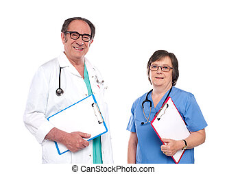 Smiling health care professionals