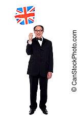 Full length photo of senior Britisher