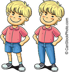 Confident Boy - cartoon illustration of confident boy