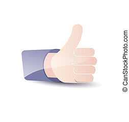 Thumb Up. Social media and network concept.