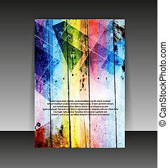 Flyer or cover design. Folder design content background. editable vector illustration