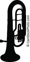 Baritone Silhouette - A silhouette image of a baritone.