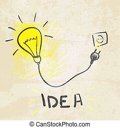 Innovative lamp.  idea concept