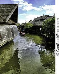 The Pattayas 4 regions floating market - PATTAYA-JUNE 16:...