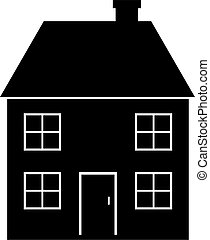 house - black and white isolated house icon