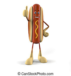 Hot dog character