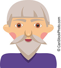 Cartoon elderly man