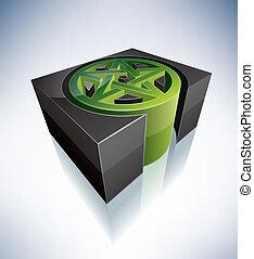 3D Religion: Satanism - Three-dimensional religion symbols:...