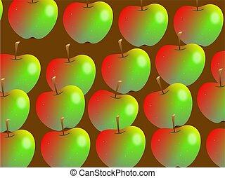 papel pintado, manzana