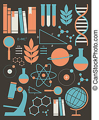 Science and Education Icons Set