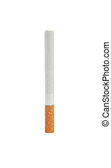 One cigarette Isolate on white background