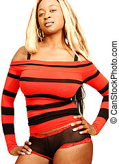 Young Jamaican girl 31. - An blond young Jamaican girl is...