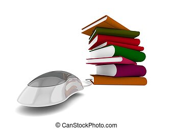 Ebook - Rendered artwork with white background