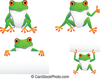 funny frog collection - illustration of funny frog...