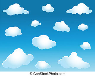 clouds collection - illustration of clouds collection
