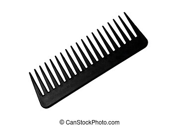Black Comb - Black comb on a white background