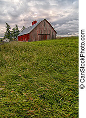 Red Barn on the Palouse - Red barn on the Palouse