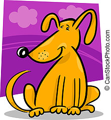cartoon doodle of funny dog