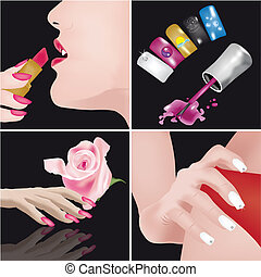 Nais Art-manicure - 4 images regarding manicure and nails...