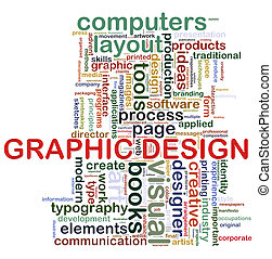 Graphic design tags - Illustration of wordcloud tags related...