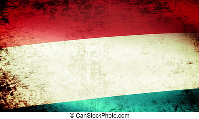 Luxembourg Flag Waving, grunge look