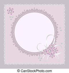 Vector ornate lace background for invitation or announcement