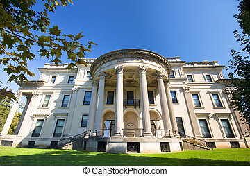 Vanderbilt Mansion Hyde Park NY - View of historic...