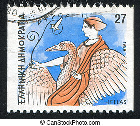 Aphrodite - GREECE - CIRCA 1986: stamp printed by Greece,...