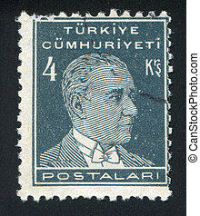 Kemal Ataturk - TURKEY - CIRCA 1942: stamp printed by...