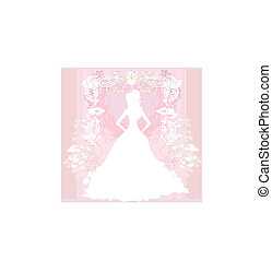 résumé, beau, floral, mariée
