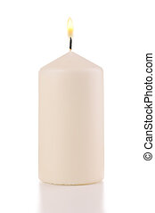 candle on a white background